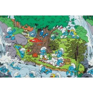 jersey Smurf bath Time Vintage in my heart Schtroumpf dessin animé bleu enfant