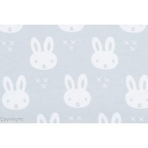 tissu Jersey Bio Lapins fond gris géométrique stenzo