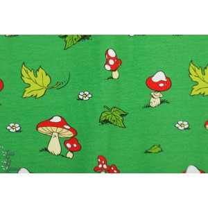 Jersey The Smurfs Mushrooms Green Vintage in my Heart  Schtroumpf champignon