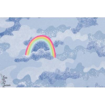 Summersweat Bio Regenbogencamouflage lillestoff susalabim arc en ciel rainbow bleu