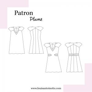 Patron couture vintage La Robe PLUME mode femme louis antoinette