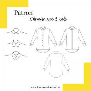 Patron Chemise au trois cols mode couture femme louis et antoinette