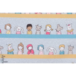 Jersey bio Girls and friends blaupastel Lillestoff susalabim aniamaux enfant layette bébé