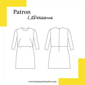 Patron femme couture ensemble La Robe PARISIENNE louis antoinette