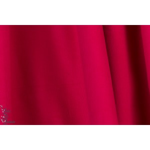 Velours milleraie Poppy couleur 76 rouge