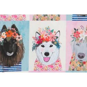 Popeline Blend Floral Pet Chien portrait animaux