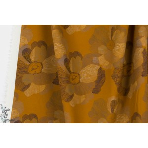 Viscose Strech Art Flow YEllow fleur mode femme mind the maker ocre
