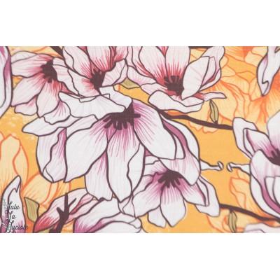 Modalsweat Magnolia Lillestoff fleur jaune enemenemeins femme