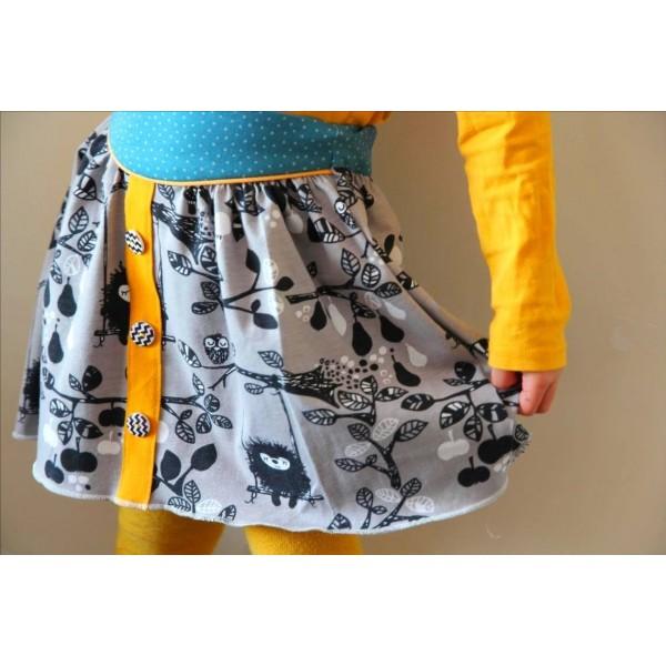 Patron jupe super bison lucie fille 18 mois 6 ans - Patron jupe elastique fille ...