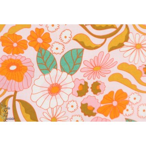 Popeline Bio Memory Lane Cloud9 retro vintage fleur orange