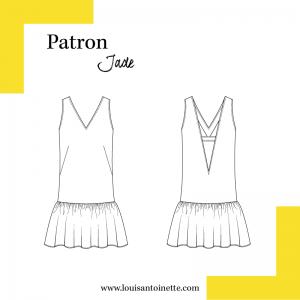 Patron couture femme mode chic louis et antoinette la robe JADE