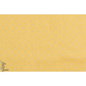 Tissu coton couture  Crépon Banane à pois or femme enfant fille france duval