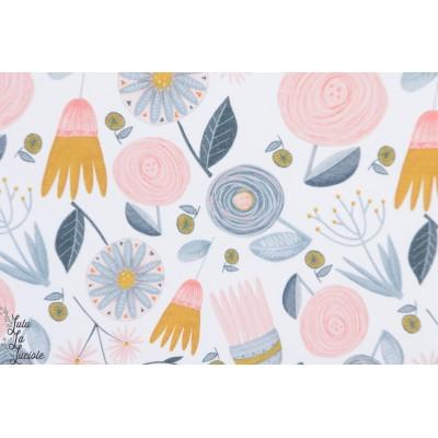 Jersey Bio Kitty Garden Flowers fleur pastel doux lillestoff