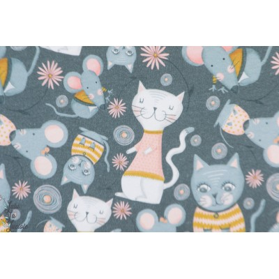 Summersweat bio Kitty Lillestoff chat souris gris enfant