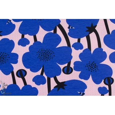 Jersey bio Buttercup Blue Light Pink Paapii fleur graphique