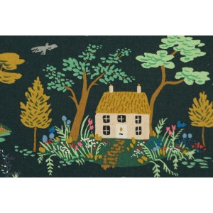 Canvas Cotton Steel English Garden riffle paper co