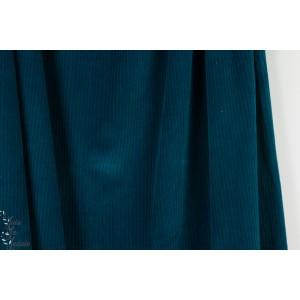Velours ALB stoffe  Cord Nicki Dunkelblau bleu bio vintage