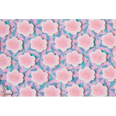 jersey fiona Hewitt japanesse garden graphique fleur doux pastel