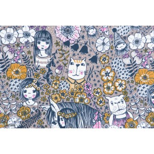 Jersey Bio Wunderblumen belles fleurs lillestoff susalabim tissu couture fille enfant