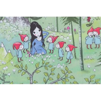 Popeline Swgneewittchen Lillestoff -Blanche Neige - SUSAlabim