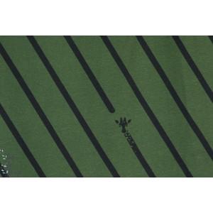 Jersey Hilco Girafffe stripe graphique rayure animaux kaki vert