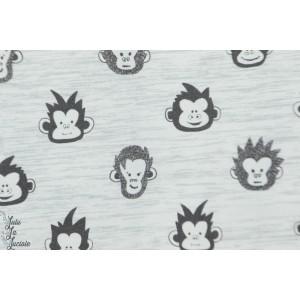 Jersey hilco Monkey Junior gis chiné singe animaux enfant