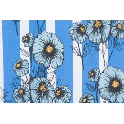 Summersweat bio Bloom Lillestoff fleur graphique bleu rayure femme enemenemeins