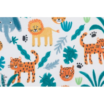 Jersey Bio jungle Animals Lillestoff aniamux layette enfant