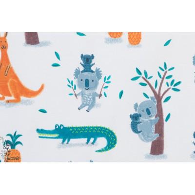jersey bio Koalas and Crocodiles lillestoff aniamaux enfant layette bébé