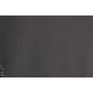 tissu coton Batiste uni  France Duval carbone gris foncé