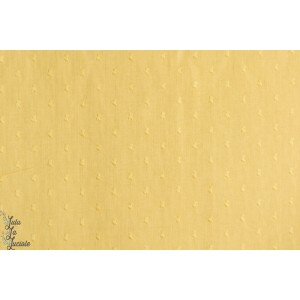 tissu Plumetis France Duval Banane jaune