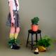 popeline bio Soft Cactus Forest Treasures - M - Gris Foncé -