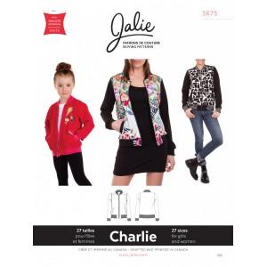 Patron Jalie Charlie Bomber fille femme teddy