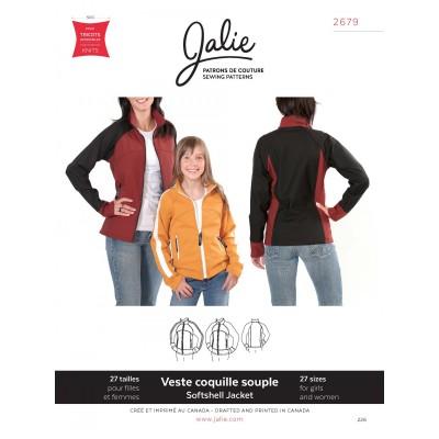 Patron Softshell Jacket Jalie pour fille et femme patron veste