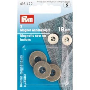 Boutons magnétiques à coudre, 19mm, laiton 416472