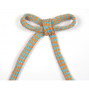 Cordon Zebrure orange/ turquoise
