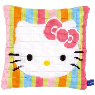 KIT Coussin Hello Kitty oiu canevas enfant