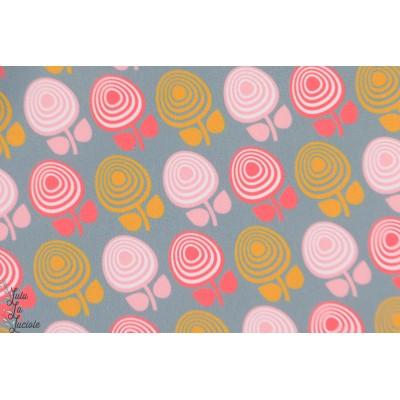 Softshell Retro flower graphique manteau imper fleur