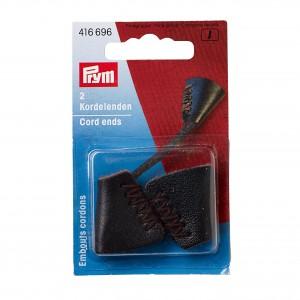 Embouts cordon cuir 25mm brun Prym 416696