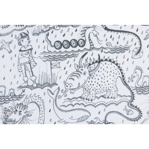 Jersey Bio Wikinger Ausmalbild Lillestoff viking dragon colorier enfant garçon susalabim