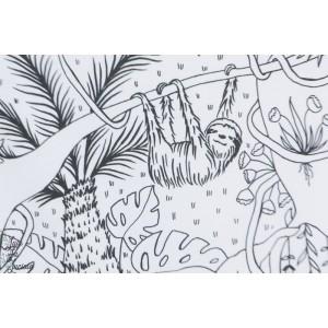 jersey Bio Dschungel Ausmalbild Lillestoff - Jungle SUSAlabim à colorier