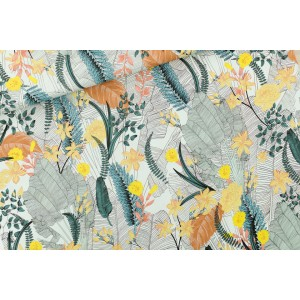 Viscose tropic Flowers SYAS