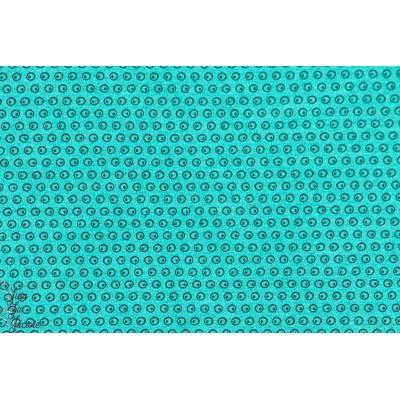 Jersey Bio Kuller turquoise pois géométrique stoffonkel