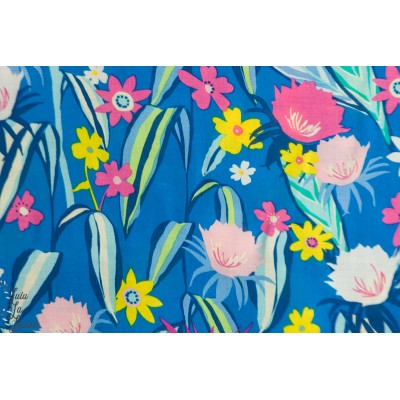 rayon AGF Tropic Like it's Hot viscose fleur bleu hello sunshine