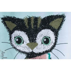 Jersey Bio Milli Melony Menthe stoffonkel chat pastèque couture enfant