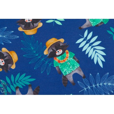 jersey explorateur bleu enfant jungle animaux castor