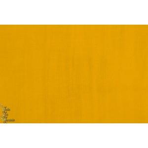 Popeline Unie Hilco Senf moutarde jaune