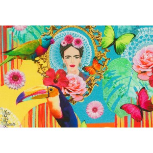 Canvas half PANAMA Premium Frida tropique couleur mexique