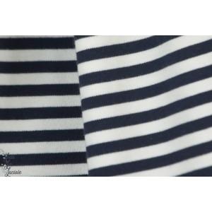 Interlock Ringel navy Blazer Blanc bleu cpauli bio marin