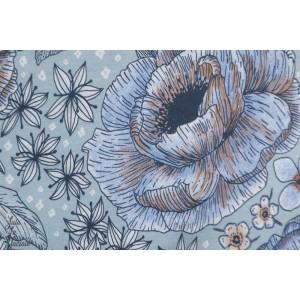 Modal Lillestoff Blumentraum Blaubraun SusaLabim Lillestoff